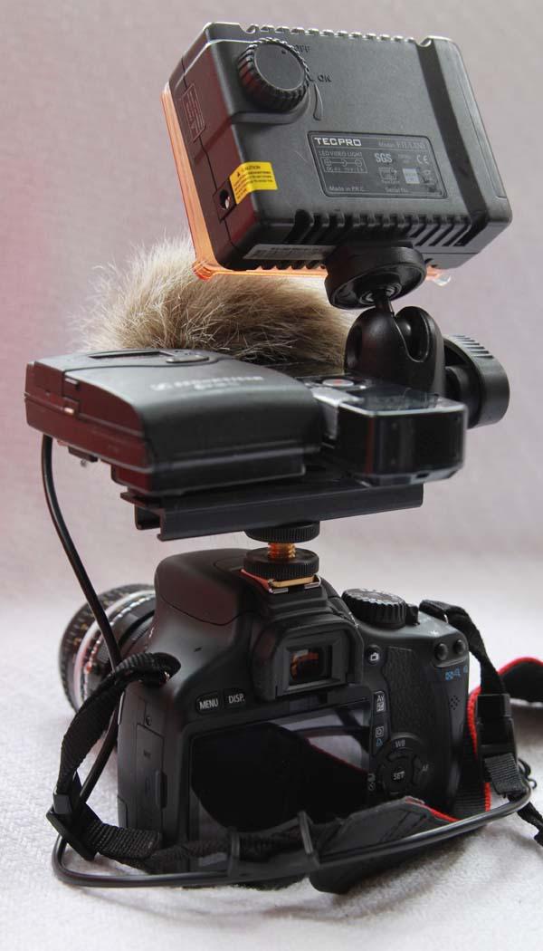 Kameraaufbau von hinten