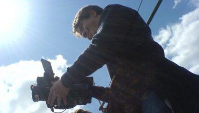 Martin Heller bei Dreharbeiten für ein Webvideo (Foto: Sandra Sperber)