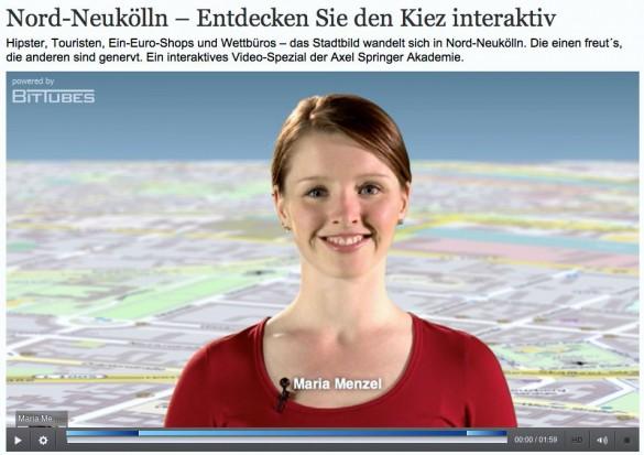 Webvideoblog Maria Menzel