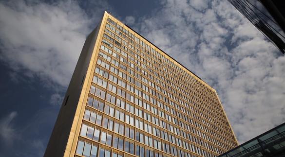 Die Zentrale der Axel Springer AG in Berlin. In der Ullsteinhalle entsteht der neue Newsroom der WELT-Gruppe.