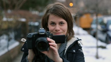 Sandra Sperber DSLR Video Reporterin