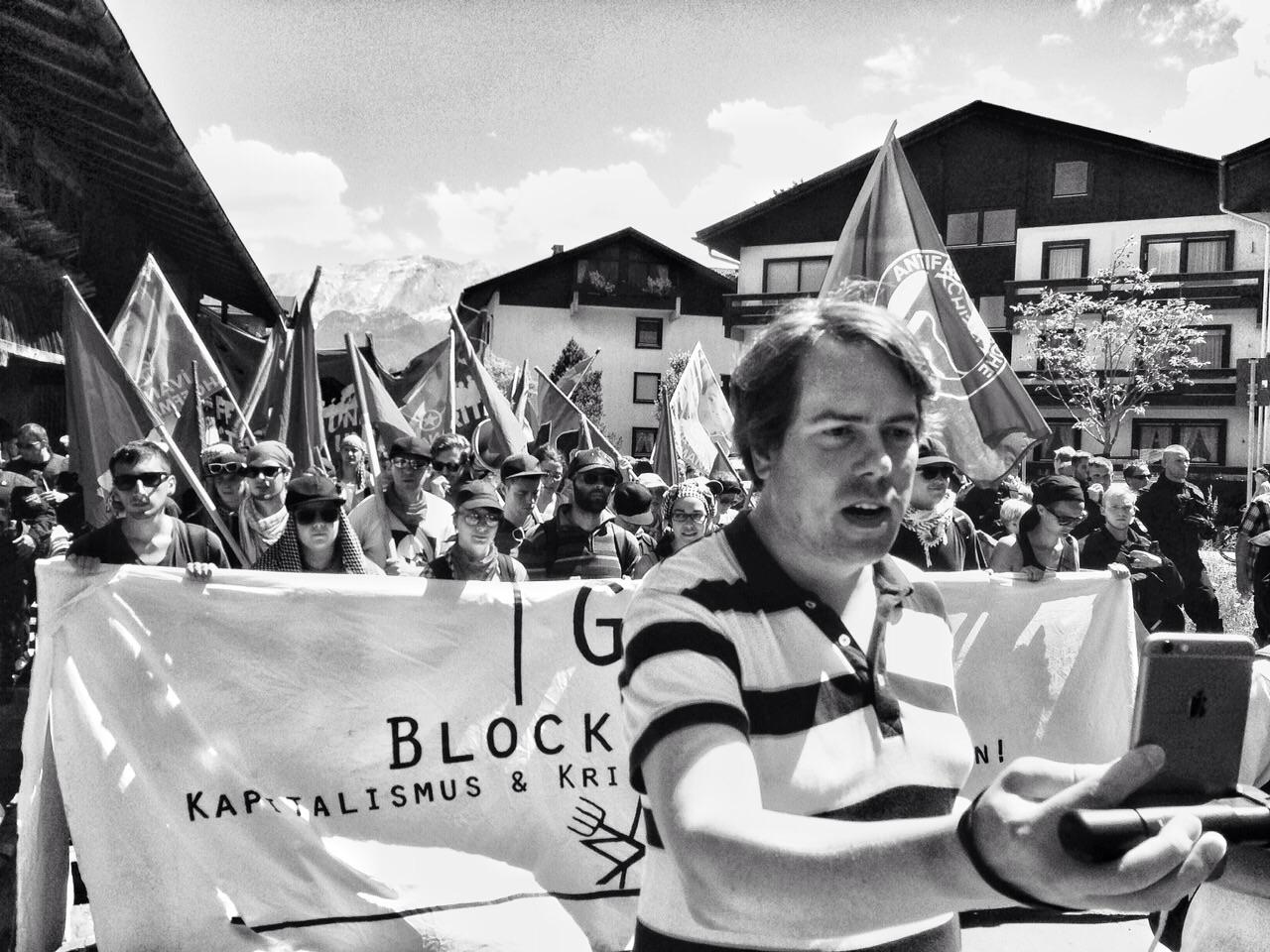 Periscope-Journalismus bei WELT: Martin Heller bei G-7-Gipfel in Bayern