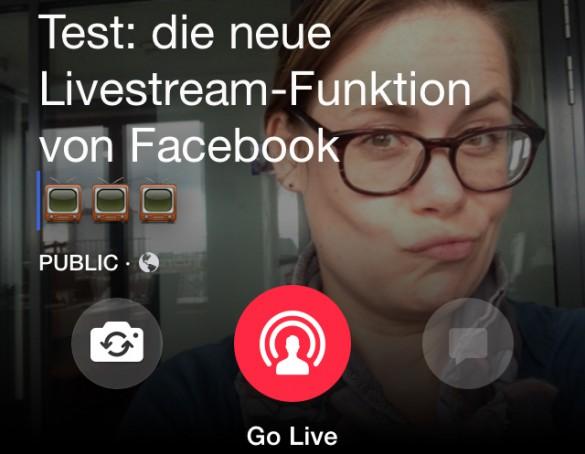 Facebook-Livestream im Test Sandra Sperber