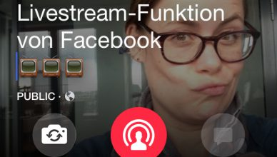 Facebook-Livestream im Test Sandra Sperber