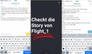 Positives Feedback und Empfehlungen via Snapchat