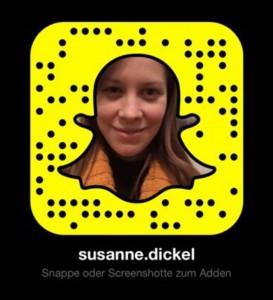 """Für Snapchat-Nutzer zum """"Adden"""": Snapcode von Susanne Dickel"""