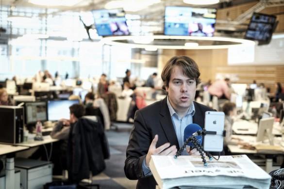 """Martin Heller live im Newsroom von """"Welt"""" und N24"""