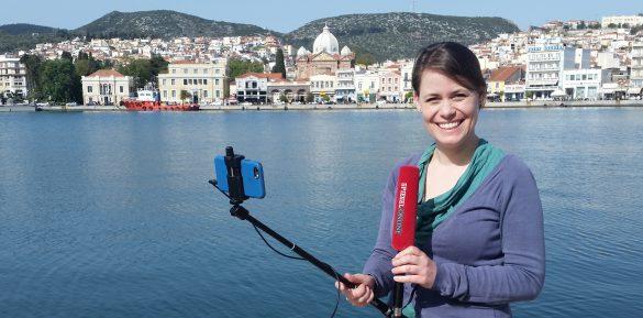 Sandra Sperber Mobile Reporting Flüchtlingskrise Lesbos
