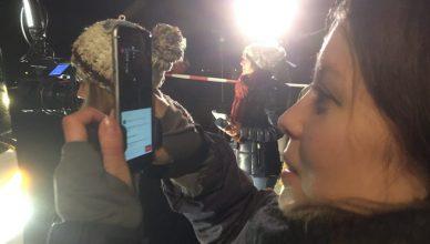 Schnell. live, social. Hier streamt Videojournalistin Susanne Dickel gerade bei Facebook.