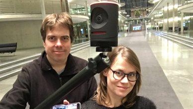 Mevo Kamera als Lösung für Facebook Live im Test bei Webvideoblog von Martin Heller und Sandra Sperber.