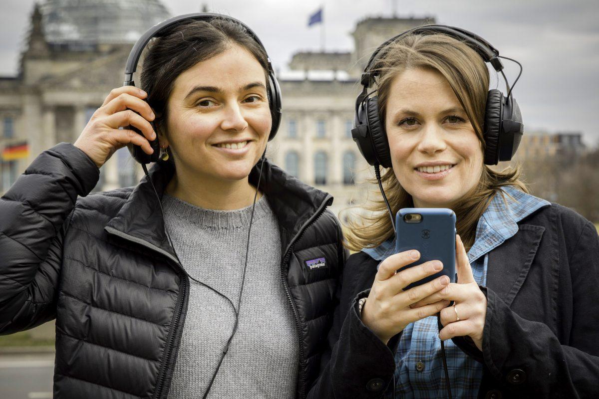 """In den USA inspiriert, im März 2017 in Deutschland gestartet. Die """"Stimmenfang""""-Macherinnen von SPIEGEL ONLINE, Sandra Sperber und Yasemin Yüksel"""