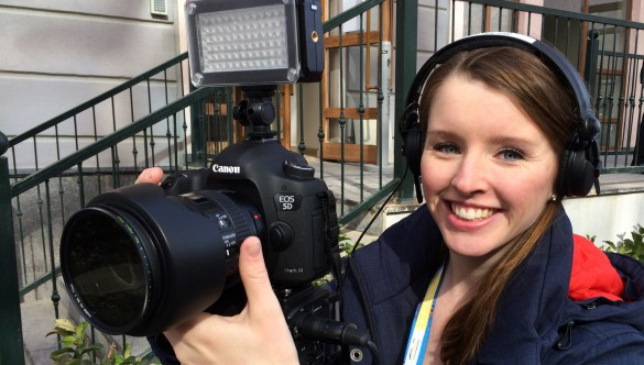 Maria Menzel beim DSLR-Video-Dreh
